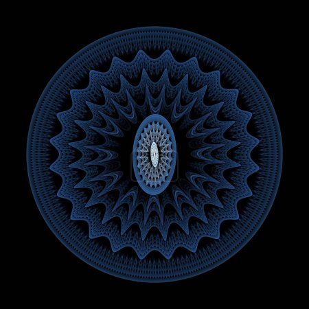 Photo pour Fond fractal abstrait avec des formes rondes bleues - image libre de droit
