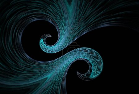 Photo for Abstract background texture, dynamic fractal illustration - Royalty Free Image