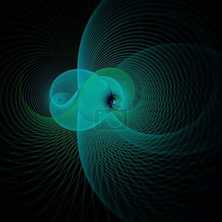 Photo for Abstract fractal background with a glowing spiral - Royalty Free Image