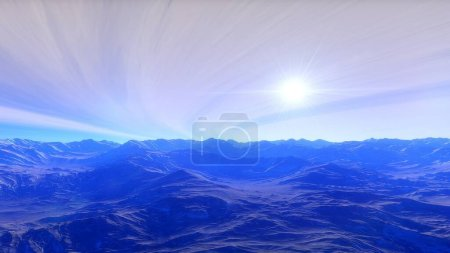 Photo for Space background, beautiful planet in far space, space background for design, outer space, planets in science fiction, exo-planet, earth-like planet - Royalty Free Image