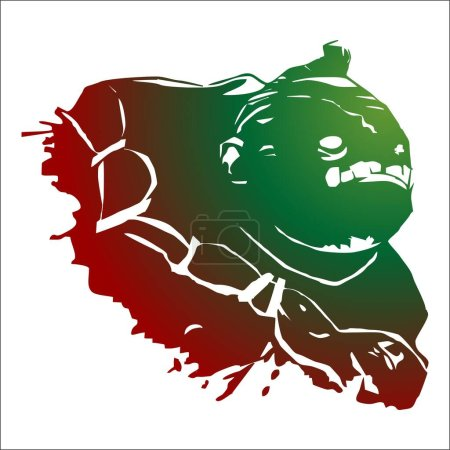 art logo logotype vert illustration orc brun Dota DOTA 2 abstrait, art, avatar, noir, costume, avatar, jeu, avings, sécurité, couper, sortir, sécurité, protection, jour, cochon, banque, unique, objet, neige, blanc, couleur, vert, rouge, monstre, illustration