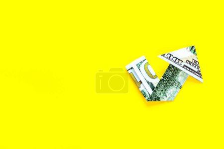 Photo for Arrow of dollar chart - currency trading concept. - Royalty Free Image