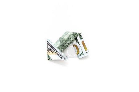 Photo for Isolated dollar chart on white background. Currency trading concept. - Royalty Free Image