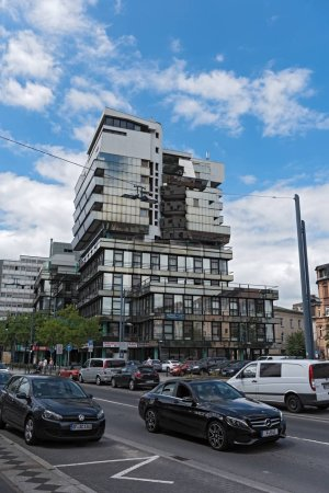 OFFENBACH AM MAIN, GERMANY JUNE 19, 2018: exceptional office and commercial building in offenbach am main, hesse, germany