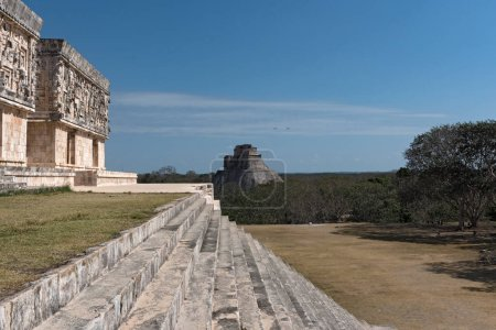 ruins of the ancient Mayan city Uxmal. UNESCO World Heritage Site, Yucatan, Mexico