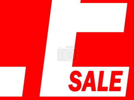 Photo for A shop window sale sign in red and white - Royalty Free Image