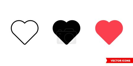 Illustration for Love icon of 3 types. Isolated vector sign symbol. - Royalty Free Image