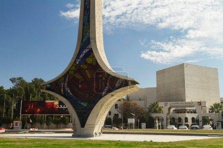 Photo pour Devant l'Opéra de Damas, Damas, Syrie - image libre de droit