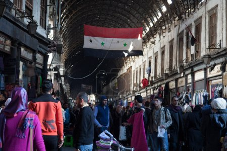 Photo pour Marché Al Hamidiyah dans le centre historique de Damas, Syrie - image libre de droit
