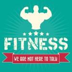 Bodybuilder silhouette vector logo. bodybuilding f...
