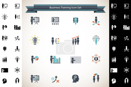 Illustration for Vector training vector infographic icons set - Royalty Free Image