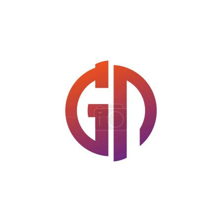 Illustration for GP logo character icon  symbol - Royalty Free Image