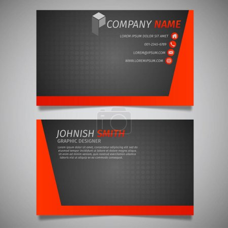 Illustration for Modern creative business card and name card, horizontal simple clean template vector design, layout in rectangle size. - Royalty Free Image