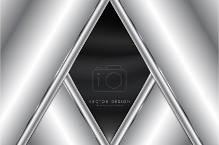 Illustration for Abstract background luxury of gray and silver metallic dark space modern design. - Royalty Free Image