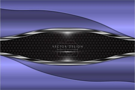 Illustration for Metal background luxury of purple with dark space modern design vector illustration - Royalty Free Image