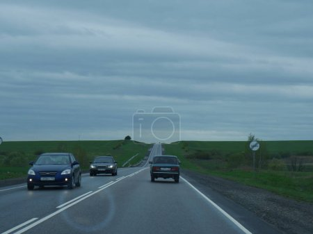 Photo pour Cars on the highway. Road. - image libre de droit