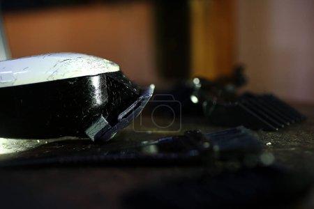 Photo for Barber tools, shaving razor - Royalty Free Image
