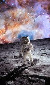 the first man on the moon. Cosmonaut. The photo taken from NASA