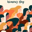 International Womens Day. Vector illustration with...