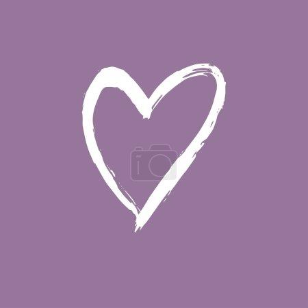 Photo pour Pinceau coeur peint. Symbole dessiné main. - image libre de droit