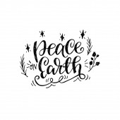 Peace on Earth hand lettering quote