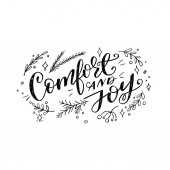 Comfort and joy christmas quote