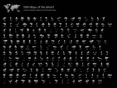 All 206 Complete Countries Map of the World Pixel Perfect Icons (Filled Style Shadow Edition) Every single country map are listed and isolated with wordings and titles A complete maps of the world outline