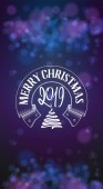 Congratulations Merry Christmas calligraphy for cards posters and covers Vertical banner