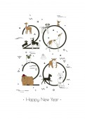 Banner in breeds of dogs 2020 Happy New Year calendar