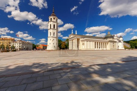 Vilnius. Lithuania. Cathedral Square.