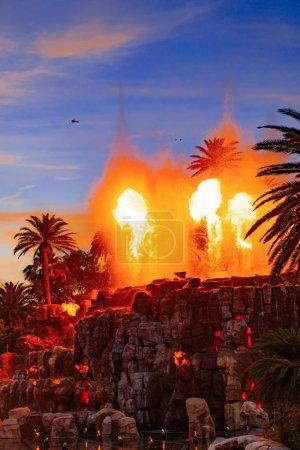 Photo pour Mirage Volcano Show à Las Vegas - image libre de droit