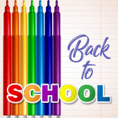 Colored felt tip pens Welcome back to school