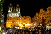 Prague, Czech Republic - 1.12.2018: Old Town Square in Prague with the Christmas tree