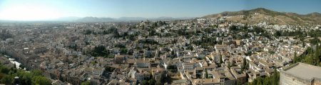 Photo for Panoramic view of Granada from Al Hambra Palace. - Royalty Free Image
