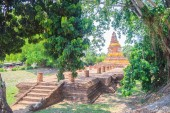 Wat I Khang (Langurs' Temple), one of the ruined temples in Wiang Kum Kam, an historic settlement and archaeological site that built by King Mangrai the Great since 13th century, Chiang Mai, Thailand