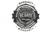 92 days warranty icon stamp badge icon