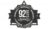 92 days warranty icon stamp