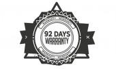 92 days black warranty icon stamp