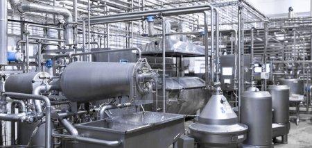 moderne Industrieanlagen bei der Fabrikfertigung Hintergrund