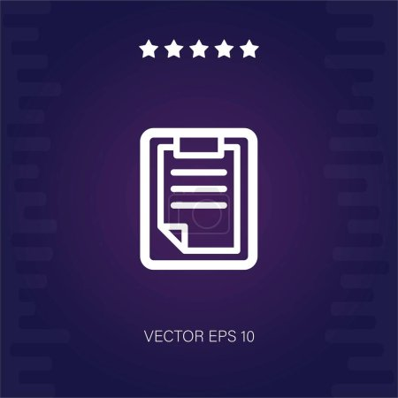 Clipboard vector icon vector illustration...