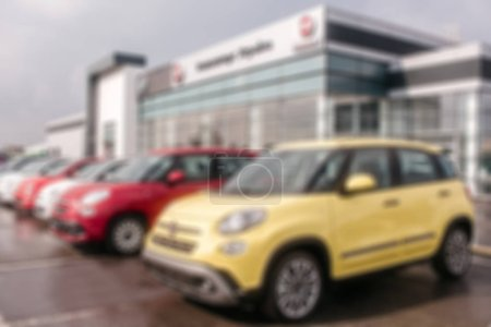 Unclear picture of Fiat cars