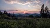 beautiful sunset in the mountains of Tatra, slovakia
