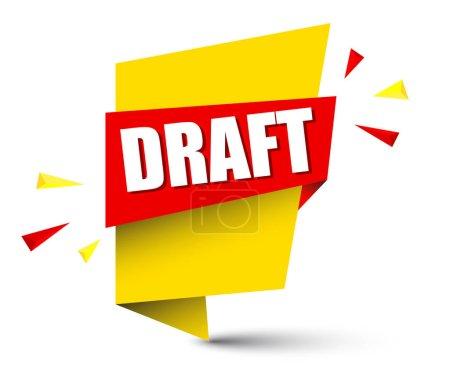 yellow vector banner draft