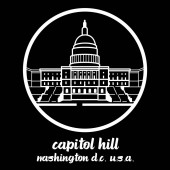 Circle Icon Capitol hill vector illustration