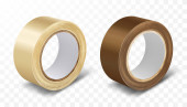 Transparent and brown duct roll adhesive tape