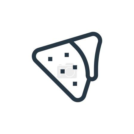 Nachos icon vector from mexico concept. Thin line ...