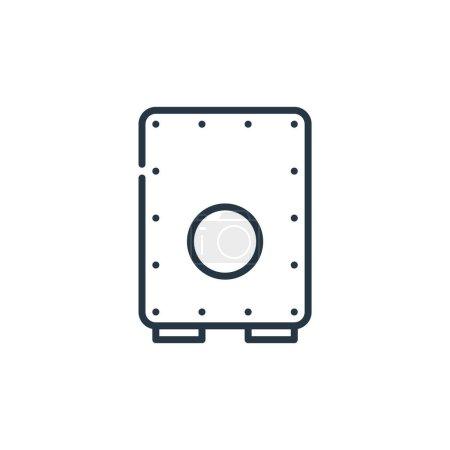 Illustration pour Cajon icône vecteur du concept cinco de mayo. Illustration en ligne fine d'un cajon modifiable. signe linéaire cajon pour utilisation sur les applications web et mobiles, logo, presse écrite. - image libre de droit