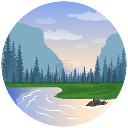 Illustration pour Paysage nature belle illustration. - image libre de droit