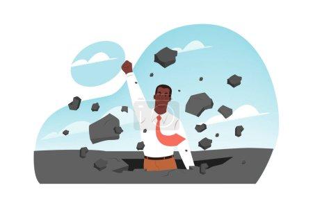 Durchbruch, Führung, unternehmerischer Erfolg, Gründungskonzept