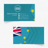 Tuvalu Flag Business Card standard size (90x50 mm) business card template